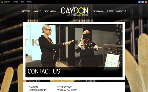Screenshot of Contact Page caydon.com.au - Contact Caydon - Property Developers, Melbourne - captured Oct. 2, 2014