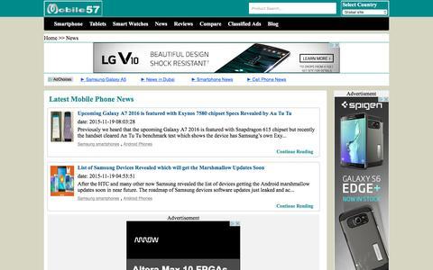 Screenshot of Press Page mobile57.com captured Nov. 23, 2015