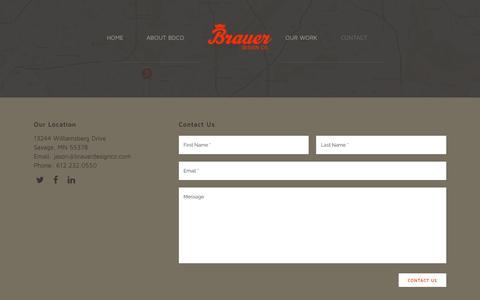 Screenshot of Contact Page brauerdesignco.com - Brauer Design | Brauer Design Contact Form - captured Jan. 7, 2016