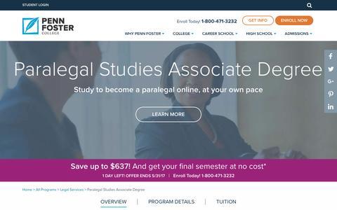 Online Paralegal Associate Degree | Penn Foster College