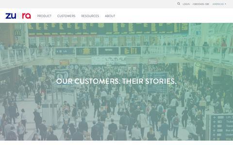 Screenshot of Case Studies Page zuora.com - Case Studies - Zuora - captured Nov. 17, 2015