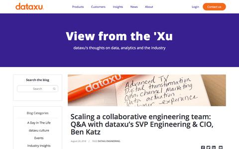 Screenshot of Team Page dataxu.com - Scaling a collaborative engineering team: Q&A with dataxu's SVP Engineering & CIO, Ben Katz - captured Nov. 18, 2019