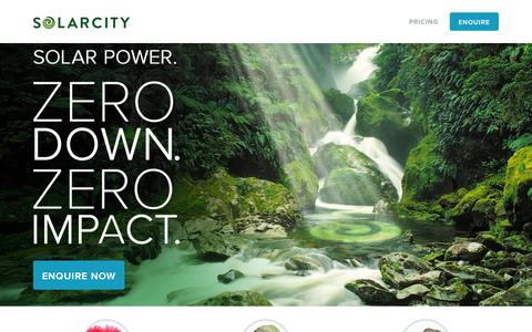 Screenshot of Press Page solarcity.co.nz - Home - Solarcity - captured Oct. 7, 2014