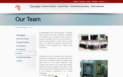 Screenshot of Team Page reliableautotech.com - Our Team - captured Oct. 18, 2018