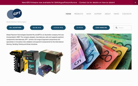 Screenshot of Home Page gpta.com.au - Global Payment Technologies - captured Jan. 23, 2015