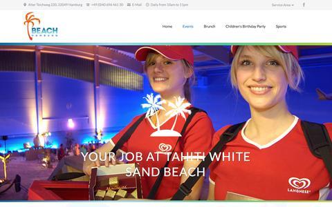 Screenshot of Jobs Page beachhamburg.de - Jobs - Beach Hamburg - captured Jan. 27, 2017