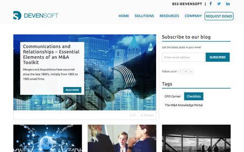 Screenshot of Blog devensoft.com - Mergers and Acquisitions Blog | Deven Software - captured Nov. 23, 2016