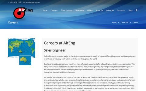 Screenshot of Jobs Page aireng.com.au - Careers - captured Oct. 7, 2017