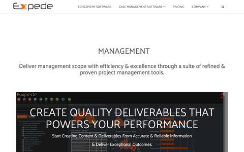 Screenshot of Team Page expede.net - management - captured July 24, 2018
