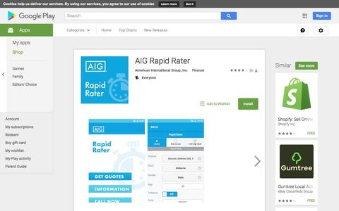 AIG Rapid Rater - Android Apps on Google Play