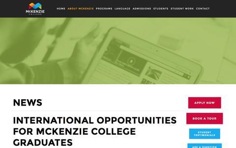 Screenshot of Press Page mckenzie.edu - News — McKenzie College - captured Nov. 28, 2016