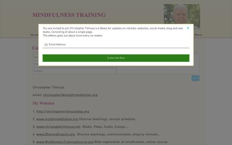 Screenshot of Contact Page mindfulnesstrainingcourse.org - Contact - captured March 4, 2017