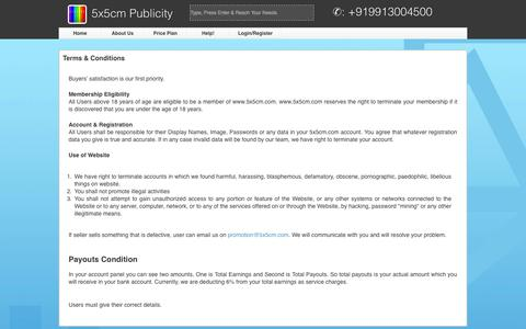 Screenshot of Terms Page 5x5cm.com - 5x5cm Publicity - Easy to Sell, Best to Buy - T%20&%20C - captured Oct. 27, 2014