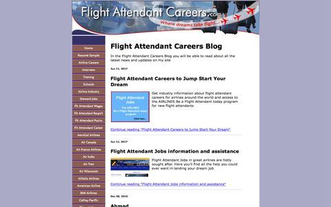 Screenshot of Blog flight-attendant-careers.com - Flight Attendant Careers Blog - captured June 23, 2017