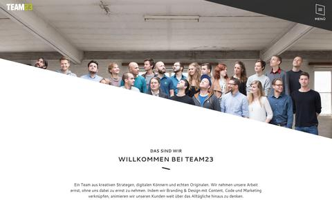 Screenshot of Team Page team23.de - Agentur E-Commerce ✚ Webagentur Augsburg - captured June 23, 2017