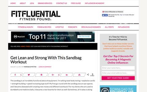 Get Lean and Strong With This Sandbag Workout - FitFluential