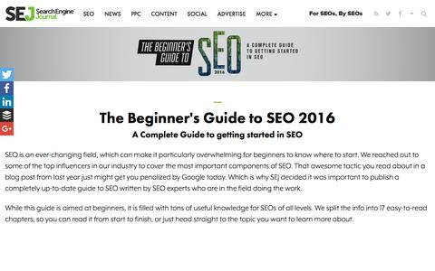 The Beginner's Guide to SEO 2016 | Search Engine Journal