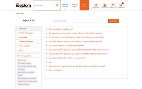 Screenshot of FAQ Page weldom.fr - Frequently Asked Questions - captured Oct. 28, 2017