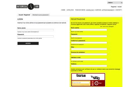 Screenshot of Login Page intermediatime.it - Profilo utente | intermediatime.it - captured Sept. 30, 2014