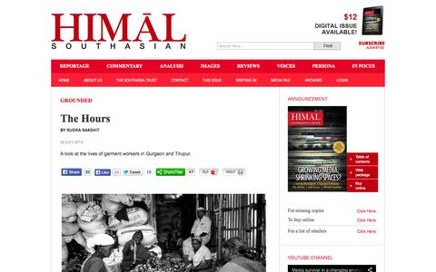 Screenshot of Hours Page himalmag.com - The Hours : Himal Southasian - captured Sept. 23, 2014
