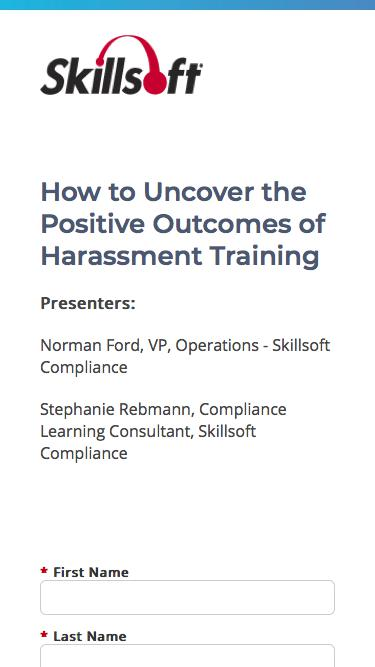 How to Uncover the Positive Outcomes of Harassment Training