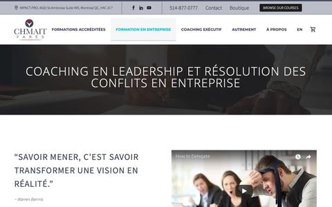 Screenshot of Team Page fareschmait.ca - Formation leadership - Compétences clés en leadership - captured Oct. 11, 2018