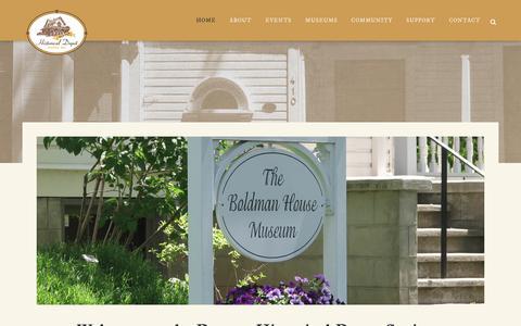 Screenshot of Home Page daytonhistoricdepot.org - Dayton Historical Depot Society - Museums in Dayton - captured Jan. 27, 2018