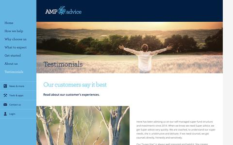 Screenshot of Testimonials Page amp.com.au - Client Testimonials - Chatswood - captured Nov. 29, 2017