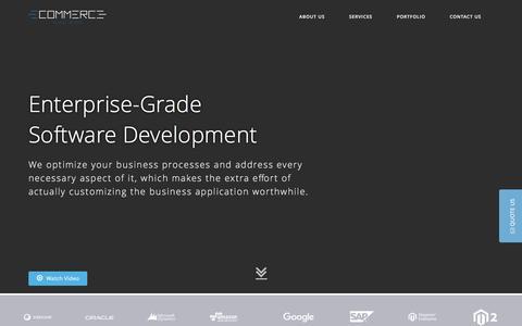 Screenshot of Home Page e-commerce-hongkong.com - Business Technology Consulting, Fintech IT Services, E-commerce Custom Software Design Development - captured March 12, 2017
