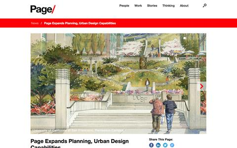 Screenshot of Contact Page Locations Page pagethink.com - Page Expands Planning, Urban Design Capabilities - Page - captured Jan. 6, 2017