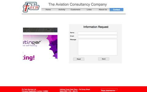 Screenshot of Contact Page flytechservice.com - contact - captured Nov. 3, 2014