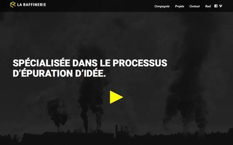 Screenshot of Home Page laraffinerie.co - La Raffinerie - Homepage - captured July 18, 2015