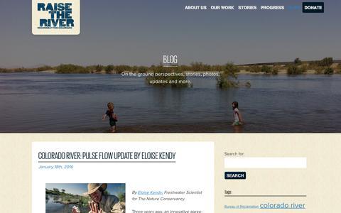 Screenshot of Blog raisetheriver.org - Blog Archives - Raise The River - captured March 7, 2016