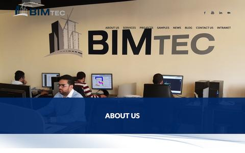 Screenshot of About Page bimtec-eng.com - BIMTEC | About Us - captured Feb. 7, 2016