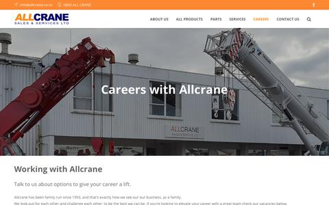 Screenshot of Jobs Page allcrane.co.nz - Careers – Allcrane - captured Oct. 3, 2018