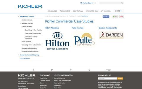 Screenshot of Case Studies Page kichler.com - Case Studies - captured April 9, 2017