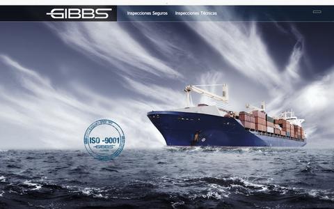 Screenshot of Home Page gibbs.cl - - Gibbs – Inspección Seguros - captured Oct. 2, 2014