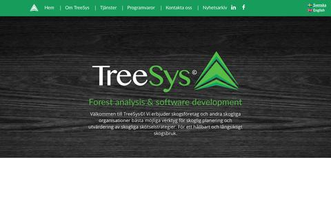 Screenshot of Home Page treesys.se - TreeSys - Forest analysis & software development - captured Sept. 20, 2015