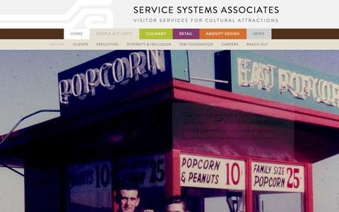 Screenshot of About Page kmssa.com - About Us - Service Systems Associates - captured Nov. 3, 2014