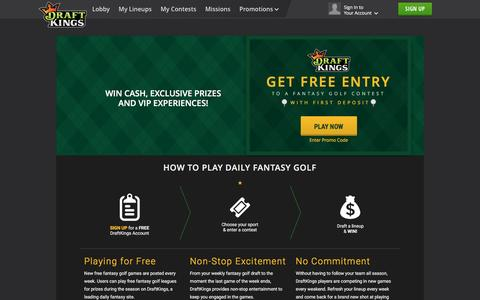 Play Fantasy Golf on DraftKings