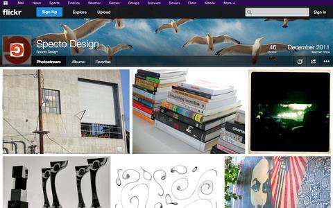 Screenshot of Flickr Page flickr.com - Flickr: Specto Design's Photostream - captured Oct. 26, 2014