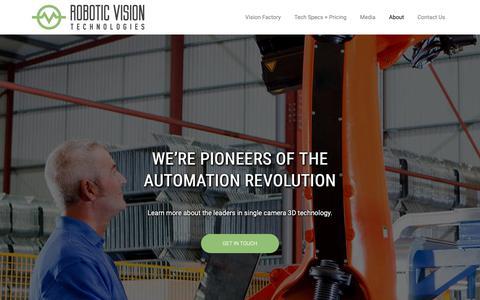 Screenshot of About Page roboticvisiontech.com - RoboticVisionTech - captured Nov. 19, 2018