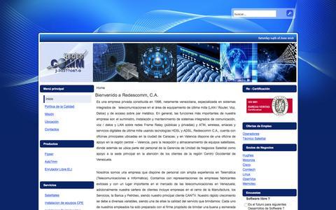 Screenshot of Home Page redescomm.com - Bienvenido a Redescomm, C.A. - captured June 4, 2016