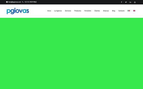Screenshot of Home Page pgiovas.com - pgiovas • Agencia Integral - captured Nov. 9, 2018