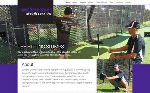 Screenshot of Home Page diamonddreams.com.au - Diamond Dreams Sports Coaching | Learn to Play the Right Way - captured Feb. 9, 2016