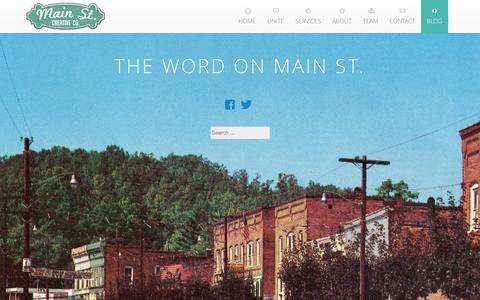 Screenshot of Blog mainstreetcreativeco.com - The Word On Main St. - - captured Sept. 24, 2014