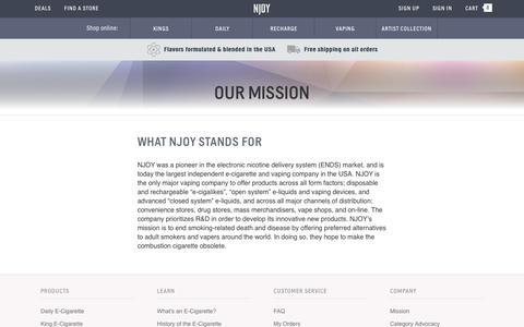 NJOY Electronic Cigarette Company Mission | NJOY