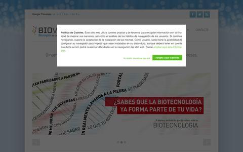 Screenshot of Home Page bioval.org - Bioval - captured Sept. 30, 2014
