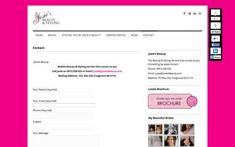 Screenshot of Contact Page josiesbeauty.com - Contacts | Josies Beauty - captured Sept. 30, 2014