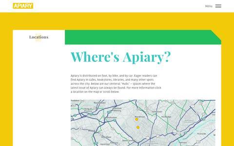 Screenshot of Locations Page apiarymagazine.com - Apiary Magazine Đ Locations - captured Dec. 23, 2015